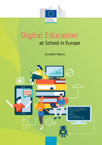 "Omslag till Eurydikerapporten ""Digital Education at School in Europe"""